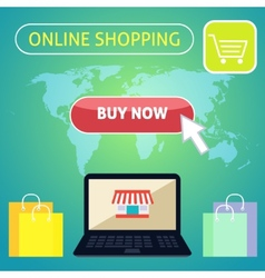 Buy now online shopping concept design vector