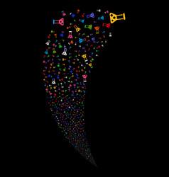 chemistry random stream vector image vector image
