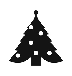 Christmas tree simple icon vector