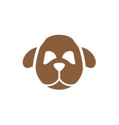 Dog head symbol silhouette vector