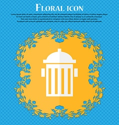 Fire hydrant icon sign floral flat design on a vector