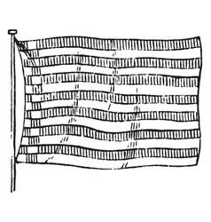Flag of bremen 1881 vintage vector