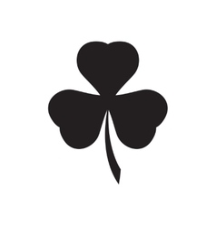 Flat icon in black and white clover vector