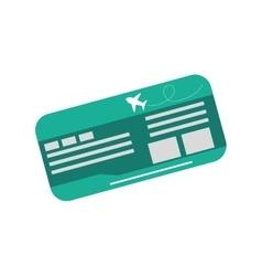 Flight ticket isolated vector image