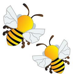 Flying bees vector