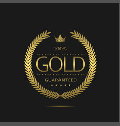 gold label template vector image