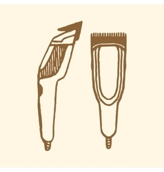 Hair clippers implements vector