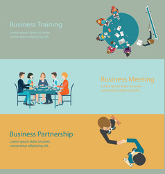infographic of business meeting design vector image
