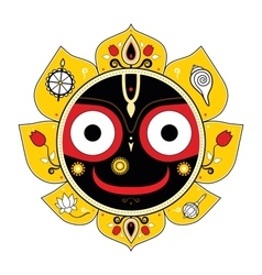 Jagannath indian god of the universe vector