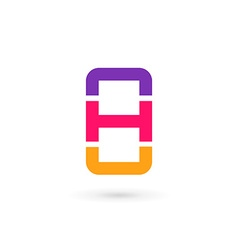 Letter h mobile phone logo icon design template vector