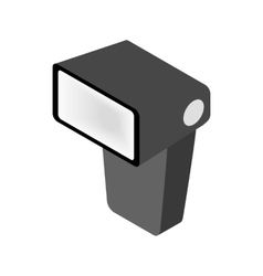 Lighting flash in front for camera icon vector