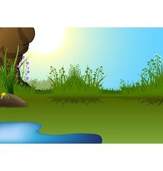 Little Pond vector image