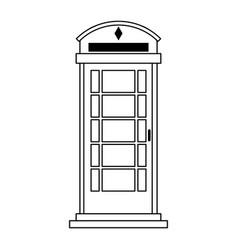 London phone booth icon image vector