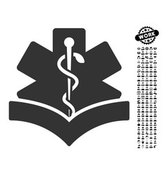 medical knowledge icon with professional bonus vector image