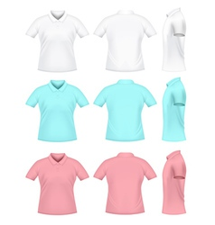 Mens polo t-shirts vector image