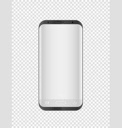 Modern smartphone mockup isolated on transparent vector