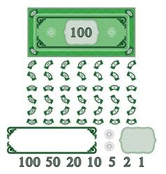 play money vector image vector image