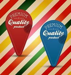 retro vintage label vector image