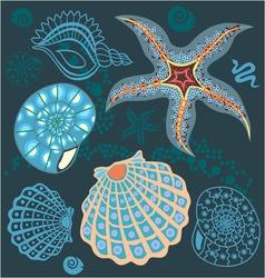 sea paradise set4 vector image vector image