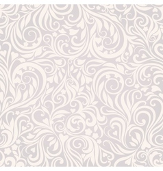 Seamless floral lightgrey background vector image vector image