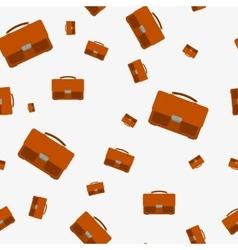 Seamless - portfolio bag vector image vector image