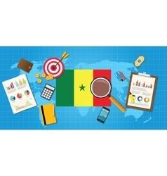 Senegal africa economy economic condition country vector