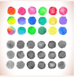 set of watercolor circles vector image vector image