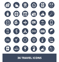 Set of web icons Travel and tourism vector image vector image