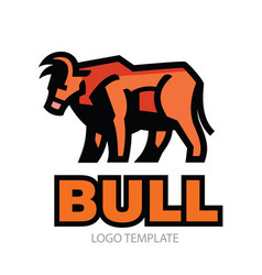 stylized drawing of bull vector image vector image