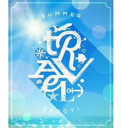 Summer travel type design vector image vector image