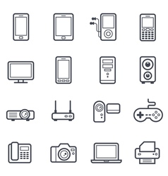 Technology and Devices Icon Bold Stroke vector image vector image