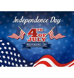 USA Independence Day Celebration Sign vector image vector image