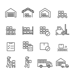 warehouse icon line vector image