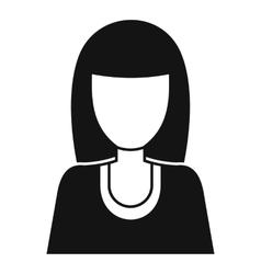 Women avatar icon simple style vector
