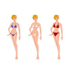 Women in bikini vector