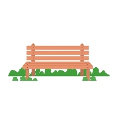 wooden bench icon vector image