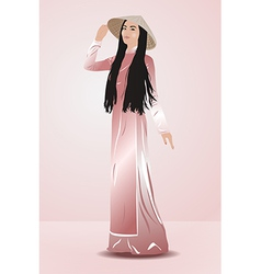 Young vietnamese woman vector