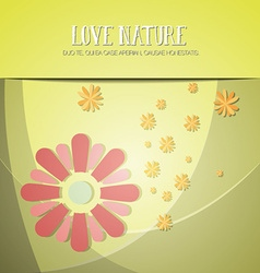 With nature and flower vector