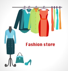 Clothing store boutique indoo vector