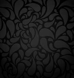 Black water shape abstract background vector image