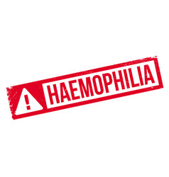 Haemophilia rubber stamp vector