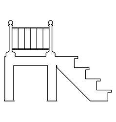 Porch the black color icon vector