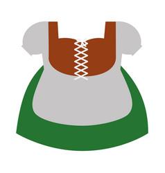 Bavarian costume vector
