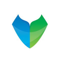 Abstract shield business logo vector