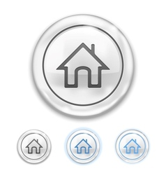 Home icon on button vector