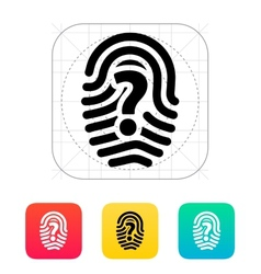Question mark sign thumbprint icon vector