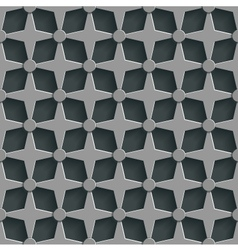 Geometric 3d seamless pattern background vector