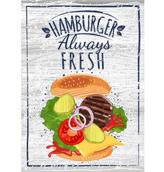 Hamburger poster vector