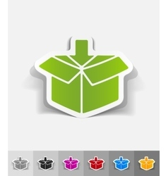 Realistic design element box vector
