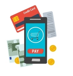 Icon easy online mobile payment vector